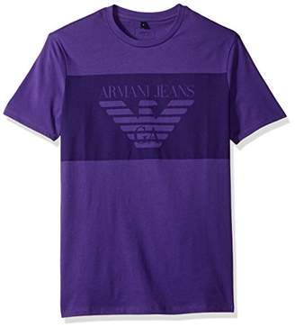 Armani Jeans Men's Regular Fit Jersey Logo Block T-Shirt