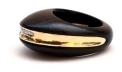 Kara Ross Gold, Diamond and Ebony Section Ring