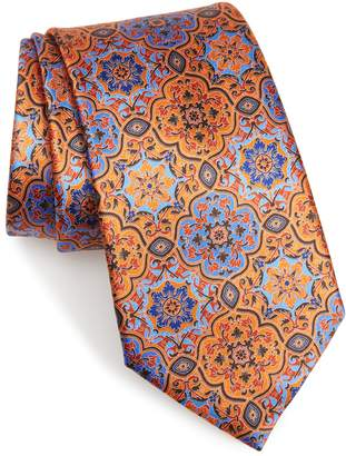Ermenegildo Zegna Damask Silk Tie