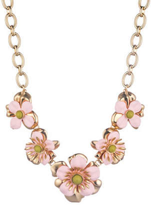 Trina Turk Super Bloom 14K Goldplated Flower Statement Necklace