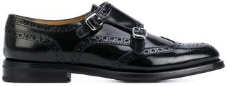 Church's perforated decoration monk shoes
