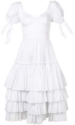 Dolce & Gabbana ruffled poplin dress
