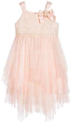 Biscotti Netting Tiered Dress
