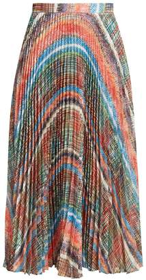 Marco De Vincenzo Chaos-print pleated midi skirt
