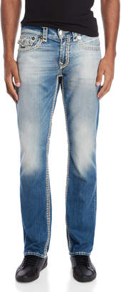 True Religion Straight Flap Stitch Jeans