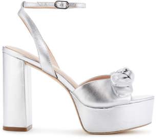 Rachel Zoe Courtney Metallic Leather Platform Sandals