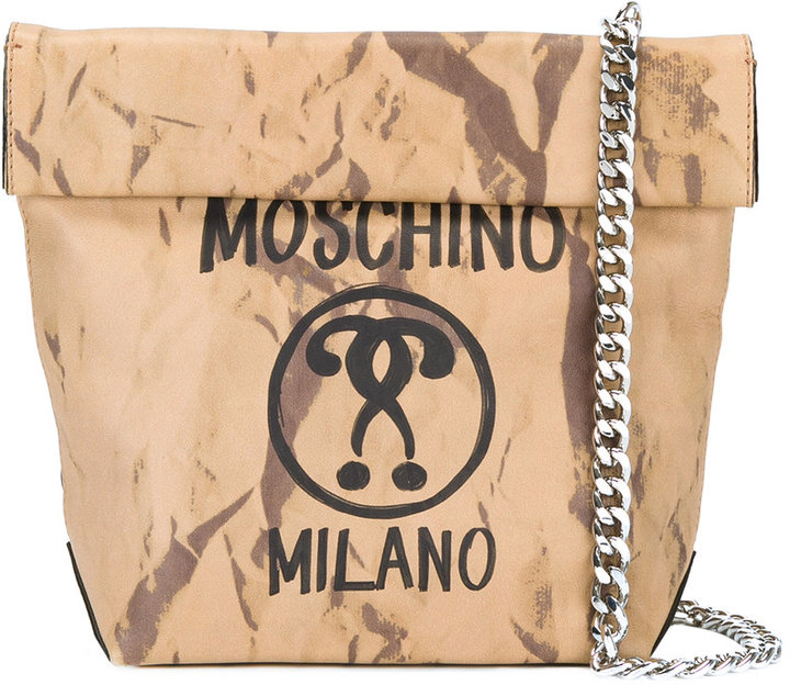 MoschinoMoschino question mark print shoulder bag