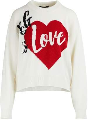Dolce & Gabbana is love cashmere sweater