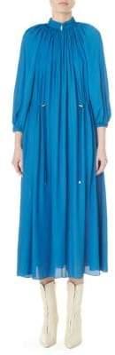 Tibi Drawstring Midi Dress
