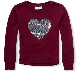 Children's Place The Reversible Sequin Pullover Sweater