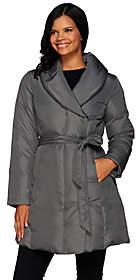 H by Halston Water-Repellant Shawl CollarPuffer Coat