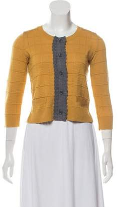 See by Chloe Two-Toned Wool-Blend Cardigan