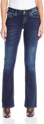 Silver Jeans Co. Women's Suki Rise Bootcut Jean with Back Flap