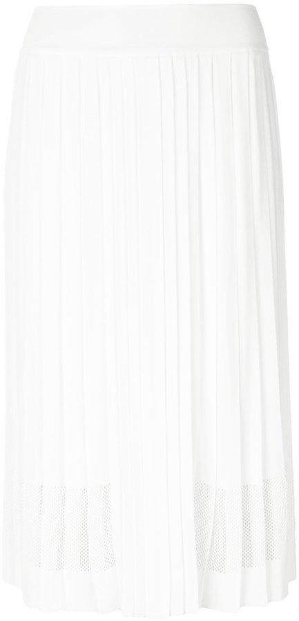 Emilio Pucci pleated mesh detail skirt