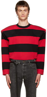 Vetements Black and Red Football Shoulder T-Shirt