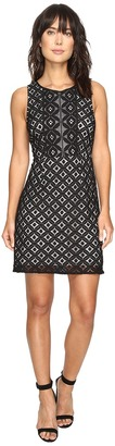 kensie - Graphic Geo Lace Dress KS3K7729 Women's Dress $89 thestylecure.com