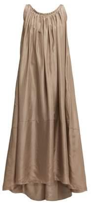 Loup Charmant Scoop Back Silk Maxi Dress - Womens - Beige