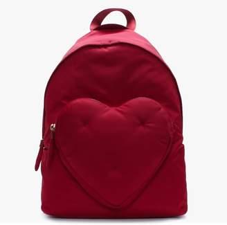 Anya Hindmarch Chubby Heart Red Nylon Backpack