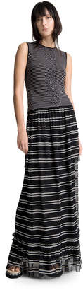 Max Studio striped long skirt