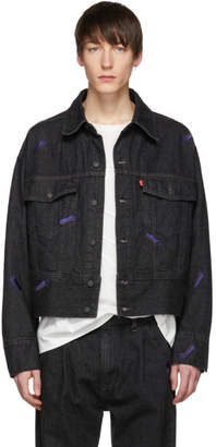 Levi's Feng Chen Wang Black Levis Edition Embroidered Denim Jacket
