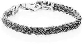 Emanuele Bicocchi Sterling Silver Fishtail Braid Bracelet