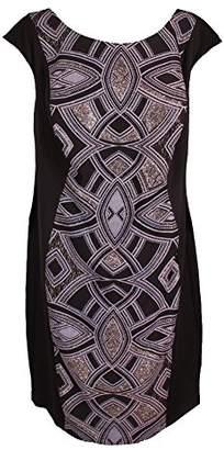 Sangria Women's Plus Size Geo Print Midi Dress