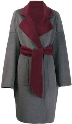 Karl Lagerfeld Paris reversible wrap coat