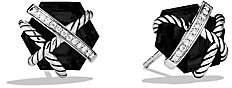 David Yurman Women's Cable Wrap Earrings with Diamonds