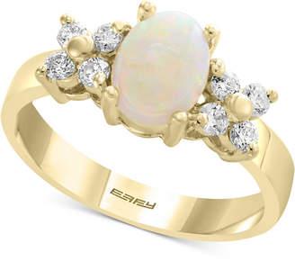 Effy Opal (2/3 ct. t.w.) & Diamond (1/3 ct. t.w.) Ring in 14k Gold