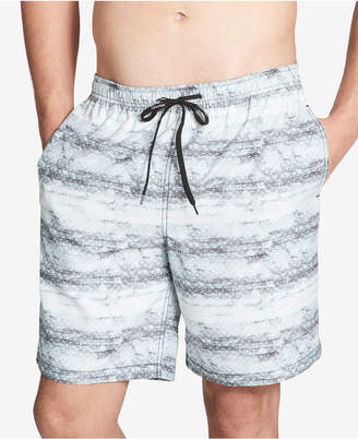 "Calvin Klein Men's Printed 7"" Swim Trunks, Created For Macy's"