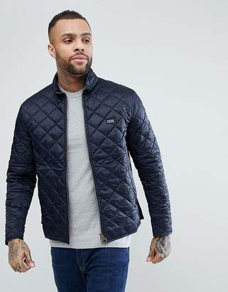 Barbour International Gear Quilted Jacket in Navy