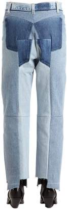 Vetements Reworked Raw Cut Cotton Denim Jeans