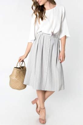 Everly Grey Striped Skirt