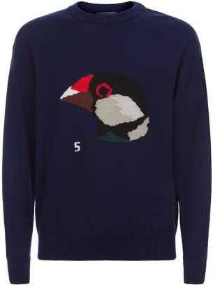 Lanvin Bird Intarsia Sweater