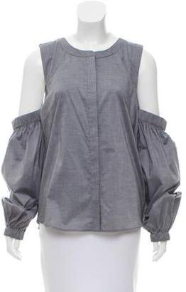Milly Cold-Shoulder Button-Up Top w/ Tags