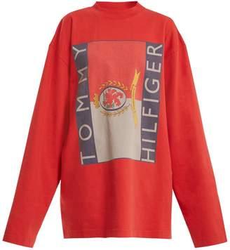 Vetements X Tommy Hilfiger logo-print cotton sweatshirt