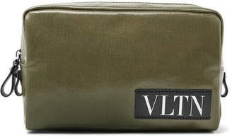 Valentino Coated-Canvas Pouch