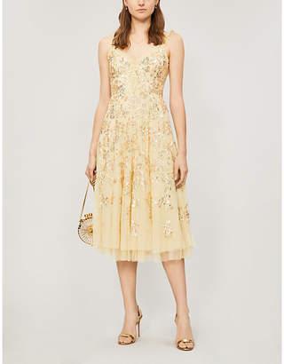 NEEDLE AND THREAD Valentina sequin-embroidered sleeveless tulle dress