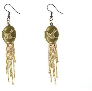 Subversive® for Target® Bird Locket with Fringe Chain Dangling Earrings