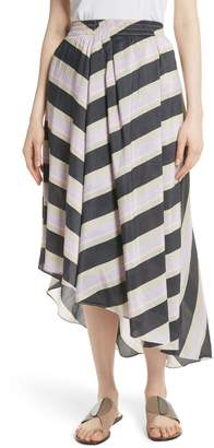 Apiece Apart Turkanna Linen & Silk Asymmetrical Skirt