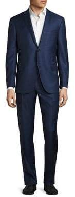 Corneliani Regular-Fit Checkered Wool Suit