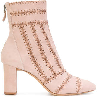 Alexandre Birman stitch panelled ankle boots