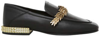 Ash Edgy Black with Chain / Metal Heel Ariel Gold Pump