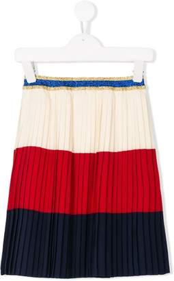Gucci Kids Web pleated skirt