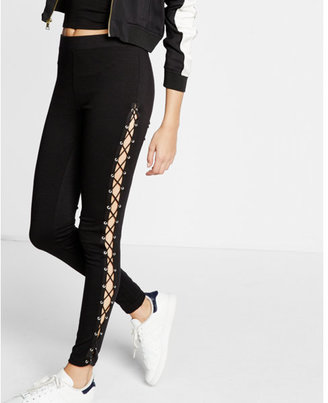 Express ponte knit lace-up legging $69.90 thestylecure.com