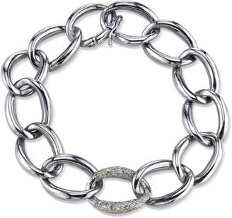 SHERYL LOWE London Sterling & Diamond Link Bracelet