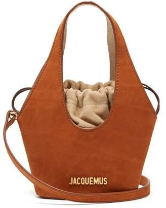 Jacquemus Le Carino Suede Bucket Bag - Womens - Tan