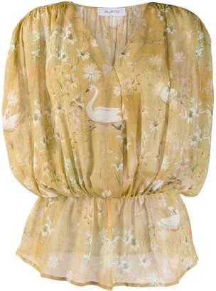 AILANTO Swan print blouse