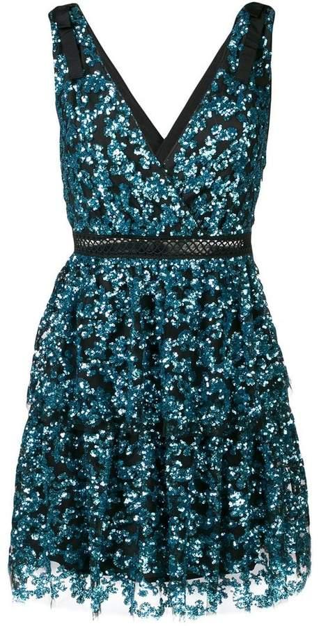 tiered sequin mini dress