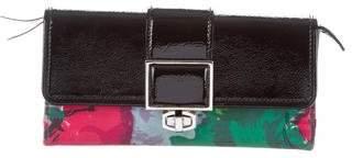 Balenciaga Floral Print Compact Wallet
